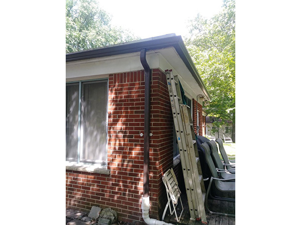 Seamless Gutter Installation for Water Damage - After