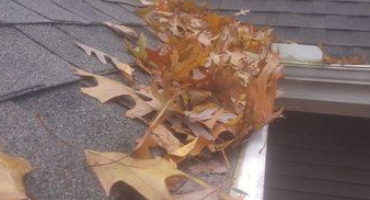 Clogged Leaffilter Replaced With Klean Gutters Leaf Guard In White Pigeon