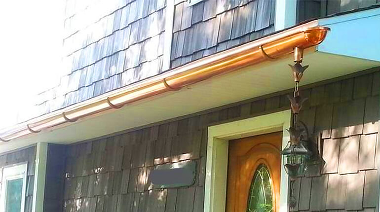 Copper Gutter Replacement